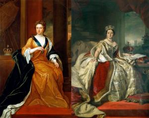 Queen Anne & Queen Victoria